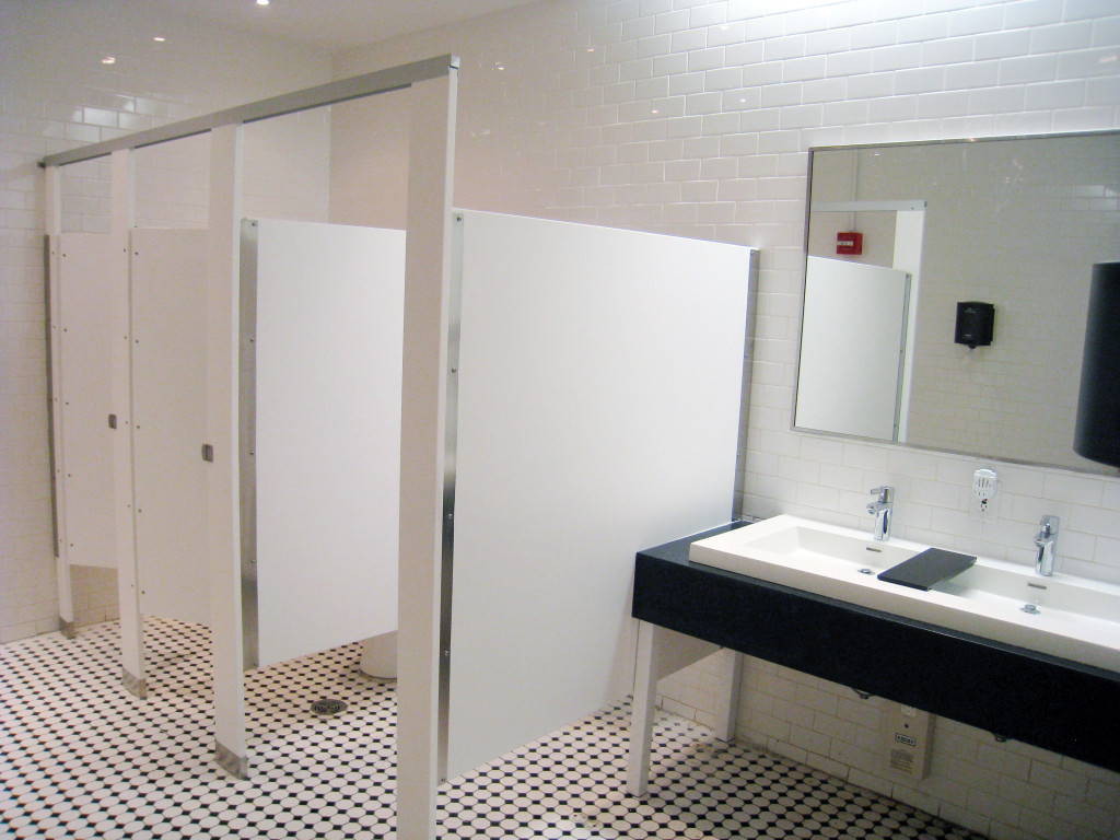 floor mounted overhead braced solid plastic hdpe toilet partitions