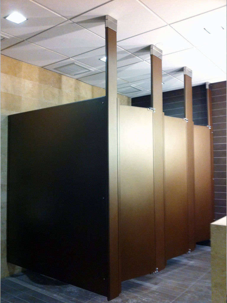 Mavi New York Powder Coated Toilet Partitions Mavi NY - Wooden bathroom stall doors