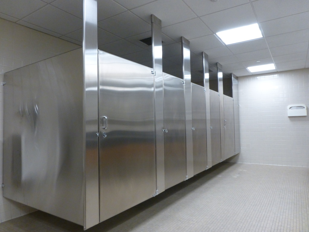 ... steel toilet stalls ceiling anchored stainless steel toilet stalls