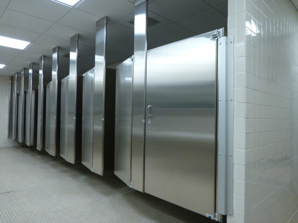 Tags Ceiling Anchored Stainless Steel Toilet Stalls