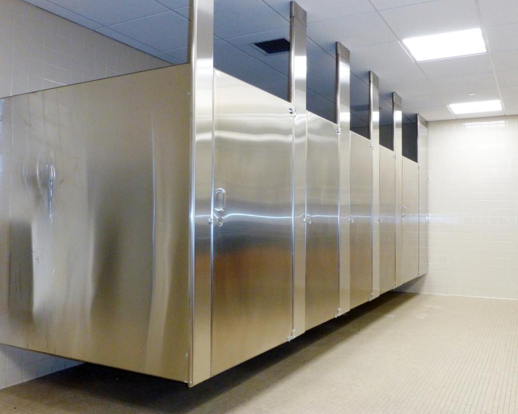 good Bathroom Stall Dividers Part - 13: Stainless Steel Bathroom Stalls