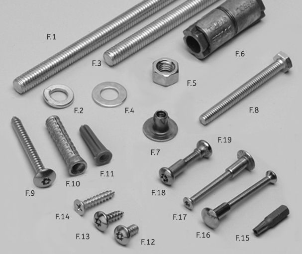 fasteners toilet partitions