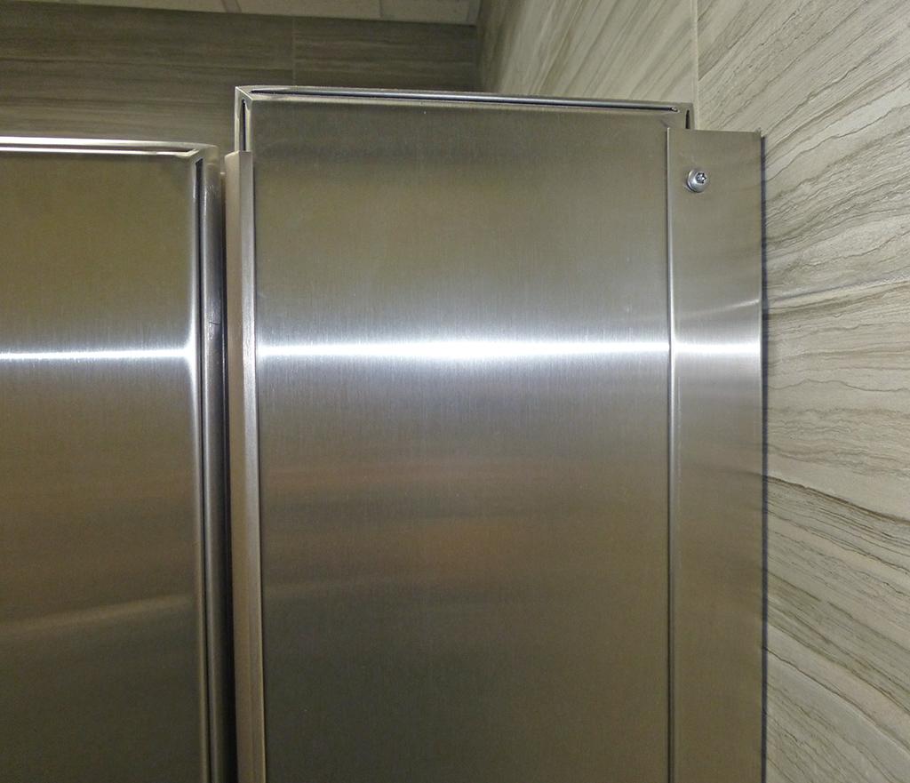Stainless Steel Bathroom Stalls Property: Mavi New York Ultimate Privacy Floor Anchored Stainless