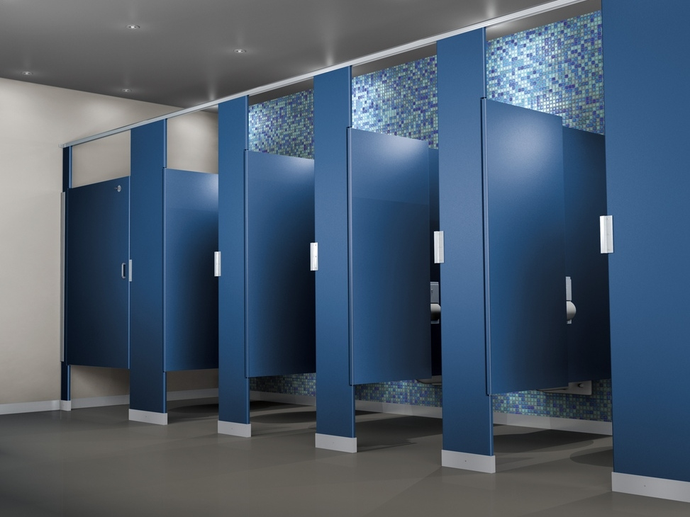 Mavi new york color thru phenolic toilet partitions mavi ny for Bathroom partitions