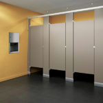 ASI Black Core Phenolic Bathroom Partitions