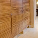 Ironwood Manufacturing Wood Veneer Bathroom Partition