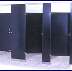 Knickerbocker Partitions Powder Coated Baked Enamel Steel Bathroom Partitions