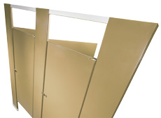 Hadrian Powder Coated Bathroom Partitions