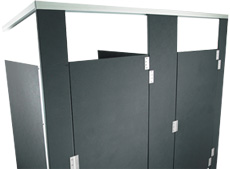 Hadrian Solid Plastic Bathroom Partitions